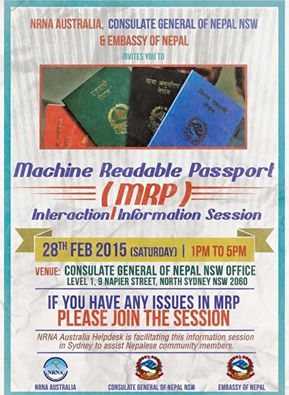 Interaction session on MRP in Sydney for Nepalese