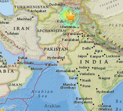 map of afghanistan pakistan and india South Asia Earthquake Hits Afghanistan Pakistan And India map of afghanistan pakistan and india