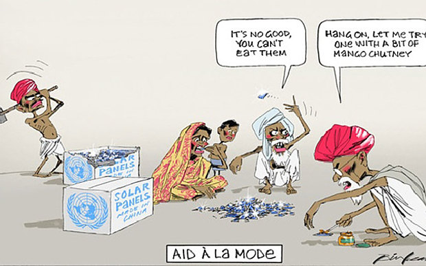 Australian 'racist' cartoon shows starving Indians trying to eat solar panels