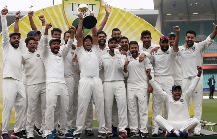 India claims historic series victory over Australia as day five at the SCG rained out