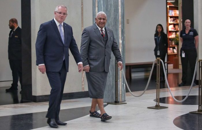 Fiji's PM Frank Bainimarama warns Australia needs to be 'more than good mates' to the Pacific